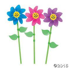 Smile Face Flower Pinwheels