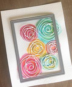 deb duty papercrafting: watercolor flowers with mft scribbles dies