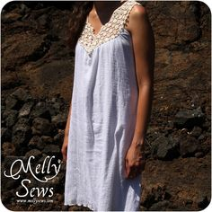 Lace Yoke Dress by Me - Melly Sews