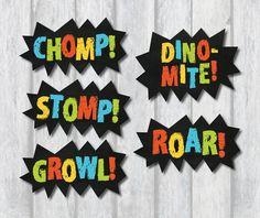 DINOSAUR CENTERPIECES. Dinosaur Party by RedAppleStudio on Etsy
