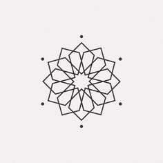 A new geometric design every day Get the new Wallpaper Pack… Geometric Flower, Geometric Logo, Geometric Lines, Geometric Pattern Design, Geometric Designs, Mandala Design, Animal Tattoos, Line Illustration, Islamic Art