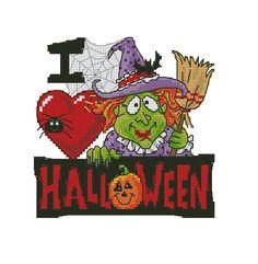 I Love Halloween Witch 1/3