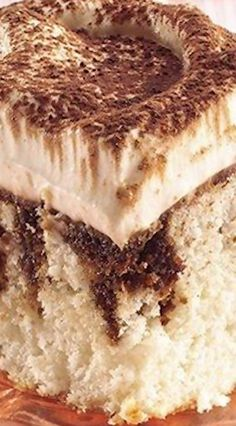 Easy Tiramisu (Poke Cake)