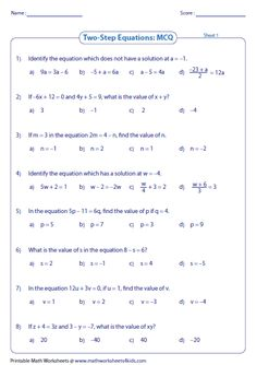 Solve one step equation: addition and subtraction. | Linear ...