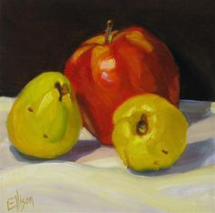 """Quince Apples"" - Original Fine Art for Sale - © Lisa Ellison"