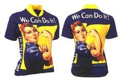 Amazon.com: Micro Beer Jerseys Ladies Rosie Riveter Jersey W/Full Length Hidden Zipper.: Clothing