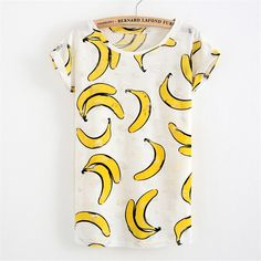 Fruit Designs Frayed T-shirt Blouse – PERKIN AVENUE I know summer is not here yet but we can't just resist the fruity prints on this shirt.