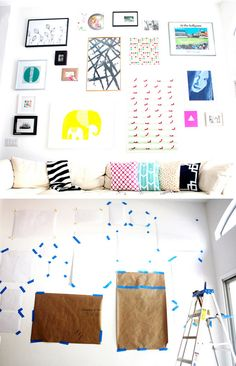 How to Do a Gallery Wall | Click Pic for 36 DIY Wall Art Ideas for Living Room | DIY Wall Decorating Ideas for the Home