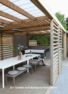 The pergola you choose will probably set the tone for your outdoor living space, so you will want to choose a pergola that matches your personal style as closely as possible. The style and design of your PerGola are based on personal Backyard Patio Designs, Backyard Pergola, Pergola Designs, Backyard Landscaping, Patio Ideas, Cheap Pergola, Landscaping Ideas, Terrace Ideas, Pergola Canopy