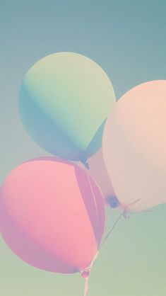 Balões na cor pastel
