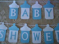 Super Ideas Baby Shower Diy Ideas For Girls Blue Cricut Baby Shower, Idee Baby Shower, Baby Shower Bunting, Baby Shower Crafts, Baby Shower Photo Booth, Baby Shower Backdrop, Shower Bebe, Baby Shower Decorations For Boys, Diy Shower