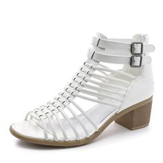 31cac153d80 TOETOS Women s Ivy-02 Fashion Block Heeled Sandals. Add a fancy sparkle to  your