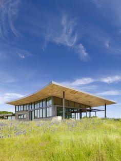 Caterpillar House, a rammed earth house in Carmel, California by Feldman Architecture