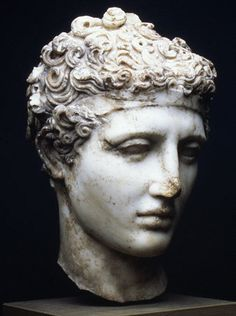 Unknown Artist (Roman), Marble head of an athlete, c. 138-192.