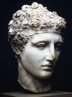 Unknown Artist (Roman), Marble head of an athlete, c. 138-192.
