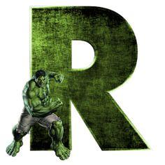 Alphabets by Mônica Michielin Hulk Birthday Parties, Superhero Birthday Party, Superhero Classroom, Hulk Avengers, Hulk Marvel, Marvel Art, Ms Marvel, Captain Marvel, Marvel Comics