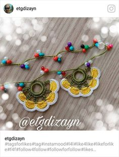 Stitch Crochet, Needle Lace, Crochet Designs, Design Crafts, Blouse Designs, Diy And Crafts, Crochet Earrings, Like4like, Bracelets