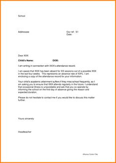 3 Absence Letter From School Appeal Leter