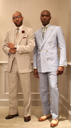 The blue suit kills but I would tone down the buttons. Suit Up, Suit And Tie, Sharp Dressed Man, Well Dressed Men, Beige Suits, Dapper Men, Grown Man, Dress For Success, Classic Man