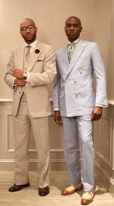 The beige suit!