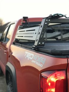 Bed Rack with Tonneau Toyota Tacoma Roof Rack, Tacoma Bed Rack, Toyota Tacoma Trd, Pickup Accessories, Cool Truck Accessories, Truck Accesories, Overland Tacoma, Overland Truck, Truck Tonneau Covers