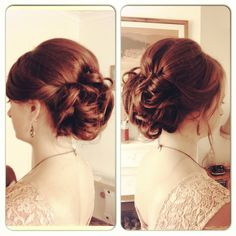 Curly updo with nice volume and smoothness