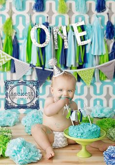 Bunting Banner, Photography Prop, Nursery Decor, Birthday Decoration - Lime Green, Turquoise, Grey, Navy Blue, Gray, Chevron, Dots, Stripes