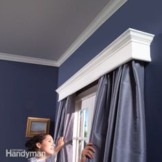 How to Build Window Cornices - Step by Step: The Family Handyman (without the ugly curtains ;