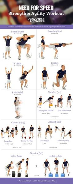 Improve your balance and agility with these speed-based exercises!