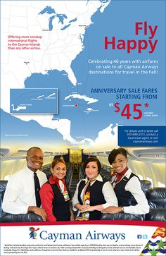 Cayman Airways Anniversary Creative