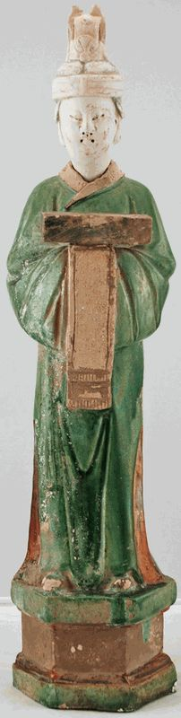 Asian Home Decor: Antique Porcelain Figurine from China