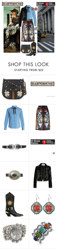 """Country Girl in the City"" by nicole-trail ❤ liked on Polyvore featuring Squarestreet, Coach, Toga, Mary Katrantzou, Topshop, Underground Signs, Lovestrength, Valentino, FAUSTO PUGLISI and M&F Western"