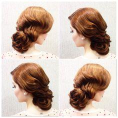 Coque clássico, wedding, retrô, vintage, bride, formatura, penteados formandas. Feito por Luana do Vale.