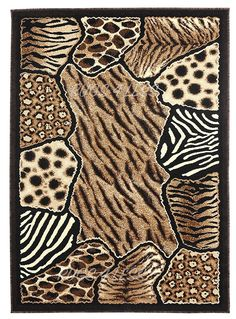 Animal Skin Prints Patchwork Leopard Zebra Rugs 4 Less Collection Area Rug R4L 74 (5'2'X7'2') ** To view further for this item, visit the image link. (This is an affiliate link) #ModernHomeDecor