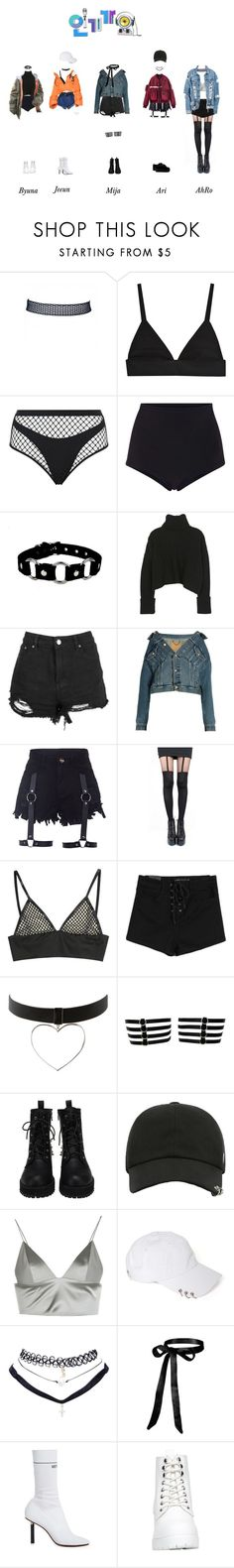 """elc - loser : DEBUT STAGE"" by officialelc ❤ liked on Polyvore featuring Agent Provocateur, Cynthia Rowley, Boohoo, Balenciaga, Pretty Polly, T By Alexander Wang, Wet Seal and Vetements"