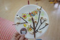 4월 봄 프로젝트 : 팝콘으로 벚꽃나무 만들기 환경구성 : 네이버 블로그 Plates, Education, Tableware, Blog, Licence Plates, Dishes, Dinnerware, Griddles, Tablewares