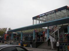 Huge food court-rest stops