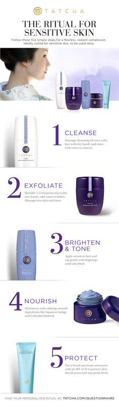The Ritual for Sensitive Skin #skincare #Japaneseskincare #sensitiveskin