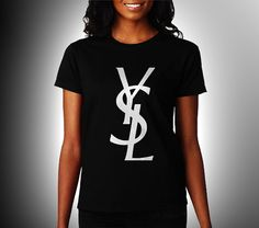 YSL Yves Saint Laurent Paris Women Black Shirt XS S by CahyaAbadi, $23.50