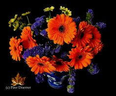 Orange and blue . Happy Birthday Flower Bouquet, Happy Birthday Flowers Wishes, Flower Bouquet Wedding, Happy Birthday Barbara, Happy Birthday Hd, Flower Bouquet Pictures, Chocolate Bouquet, Girl Wallpaper, Pictures Images