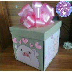 imgrumweb.com Handmade Birthday Gifts, Cute Birthday Gift, Birthday Cards, Creative Box, Ideas Para Fiestas, Boyfriend Birthday, Plushies, Origami, Christmas Crafts