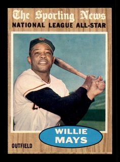1962 Topps #395 Willie Mays AS NM+ X1337621 #sfgiants #SanFranciscoGiants