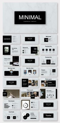 Black & White Minimalist Business Plan Presentation Template – Original and high quality PowerPoint Templates Keynote Design, Design Brochure, The Plan, How To Plan, Layout Design, Graphisches Design, Graphic Design, Design Ideas, Design Presentation