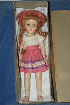 "Very Pretty 17"" Vintage Arranbee R&B Nancy Lee Hard Plastic Doll In Orig Box"