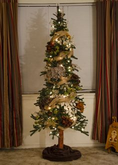 Alpine Tree from Hobby Lobby decorated with floral items from Burnett's Flowers. Decor for my tree! Hobby Lobby Christmas Trees, Alpine Christmas Tree, Alpine Tree, Pencil Christmas Tree, Christmas Greenery, Primitive Christmas, Country Christmas, Xmas Tree, Christmas Décor