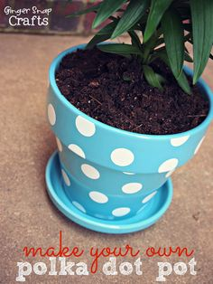 Make Your Own Polka Dot Pot {tutorial}
