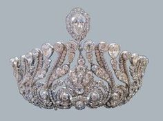 A close up of the Zetland tiara, owned by the Dundas Family, 1890