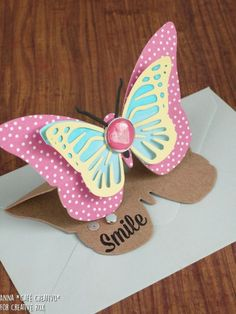 How to make a Butterfly Easel Card using Sizzix die