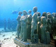 Cancun's Underwater Museum, Mexico