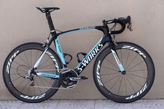 Specialized Omega Pharma-Quick Step Venge aero road frame.